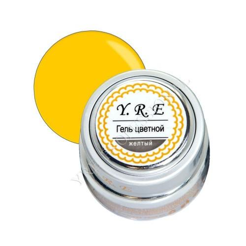 Купить Гель YRE цветной 7гр желтый (металлическая баночка)