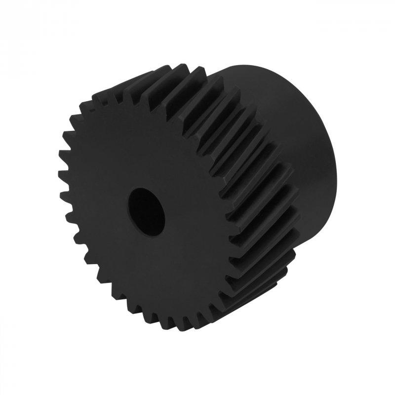 Купить Шестерня косозубая стальная модуль 2.0 без шпонки GHLM2.0-Z30-D14 для зубчатой рейки (30 зуб., диам. 14 мм)