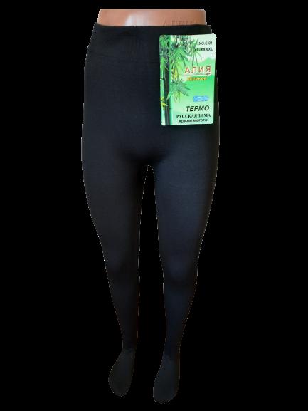 Купить Колготки женские термо бесшовные лайкра на байке р.50-54. От 3шт по 69грн