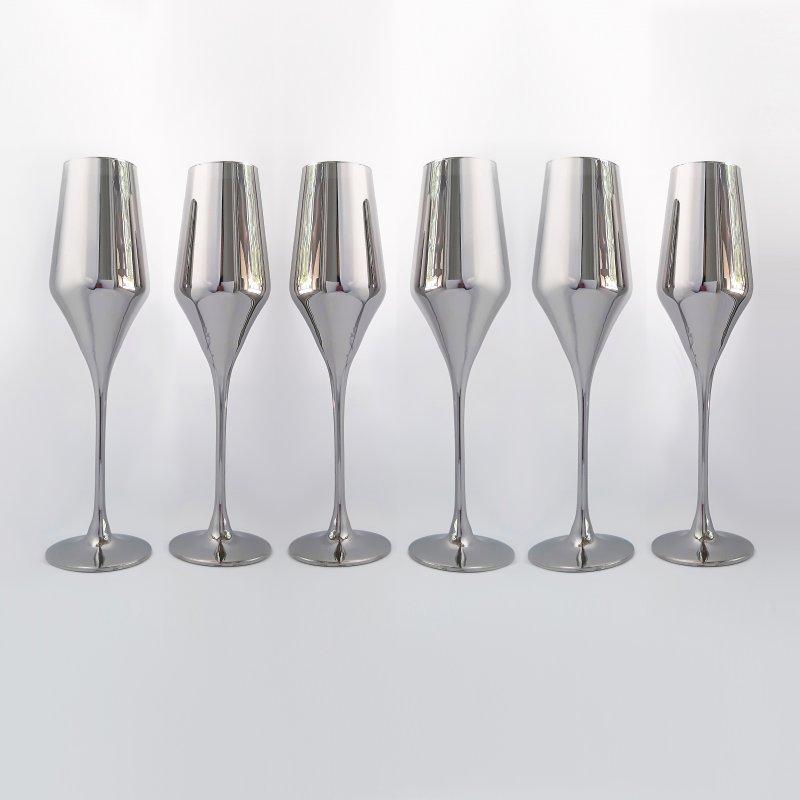 Купить Набор бокалов для шампанского Rona Aram 220 мл хром