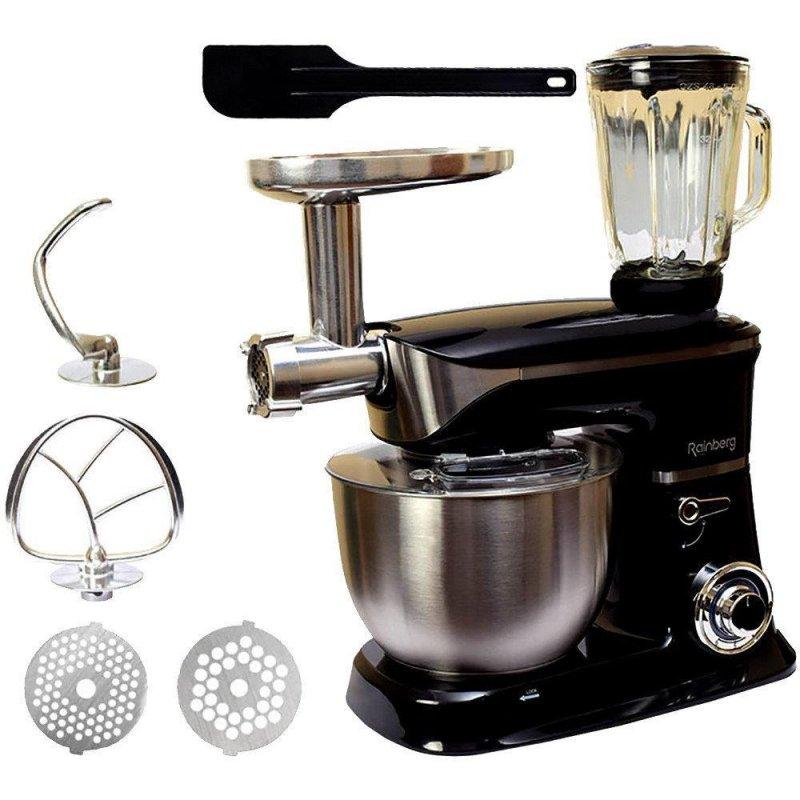 Купить Кухонный комбайн Rainberg RB-8080 3 в 1 Тестомес, Мясорубка, Блендер (4200 Вт) 5B