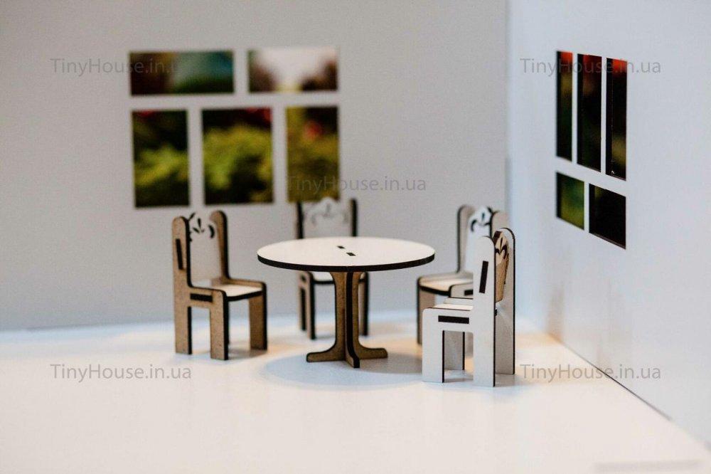 """Купить Набор мебели """"круглый стол и стулья"""" DF003 """"TinyHouse"""""""