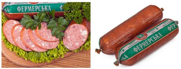 Колбасы варено-копченые Колбаса «Фермерская»