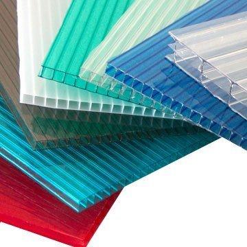 Поликарбонат сотовый лист. Разные толщины и размеры(прозр/цв)