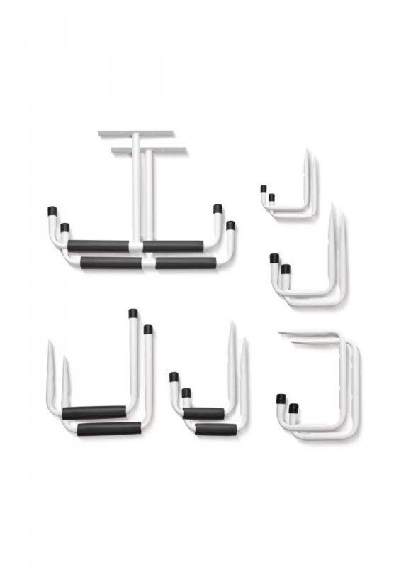 Купить Набор крючков 12 шт PARKSIDE белый-черный LI-110842