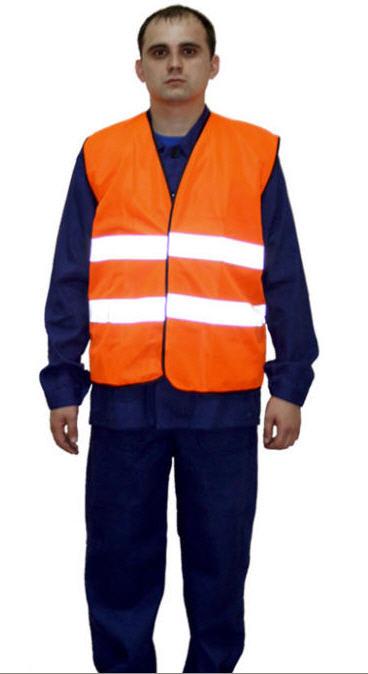 Купить Жилет сигнальный, спецодежда для дорожных работ