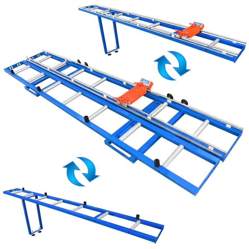 Купить Рольганг цифровой измерительный RMD-6000/2-M-2LG, электронная линейка позиционер с упором, роликовый конвейер