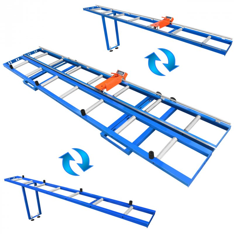 Купить Рольганг цифровой измерительный RMD-6000/2-M-1LG, электронная линейка позиционер с упором, роликовый конвейер