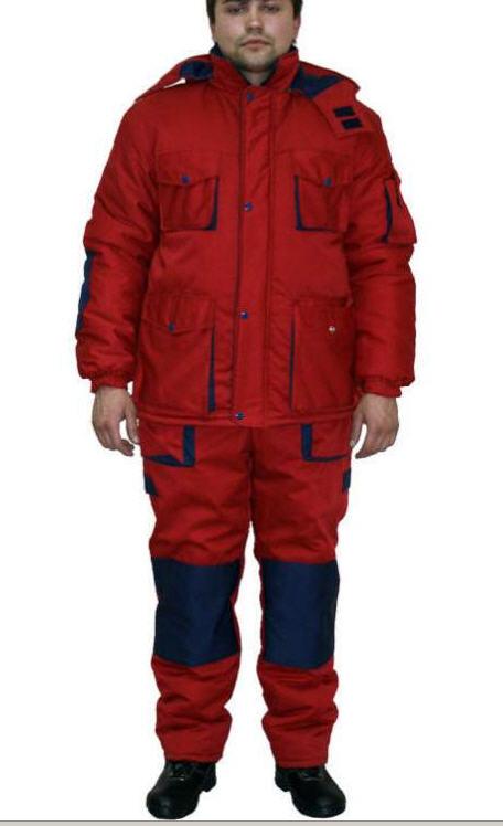 Купить Костюм рабочий зимний ЛЮКС, куртка и полукомбинезон, спецодежда для защиты от низких температур