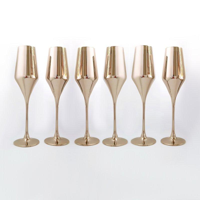 Купить Набор бокалов для шампанского Rona Aram 220 мл золото