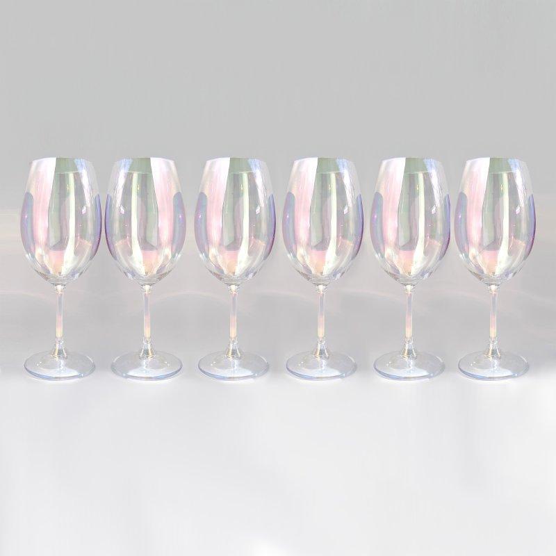 Купить Набор бокалов для вина Bohemia Sylvia 450 мл перламутр