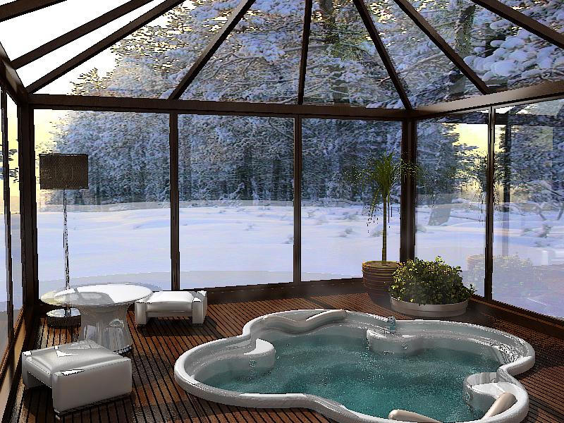 крайне бассейн с зимним садом фото джинсовой ткани