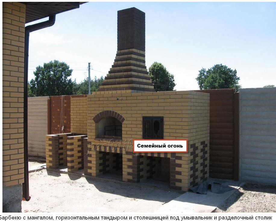 Барбекю бетонный купить купить электро барбекю с натуральным камнем