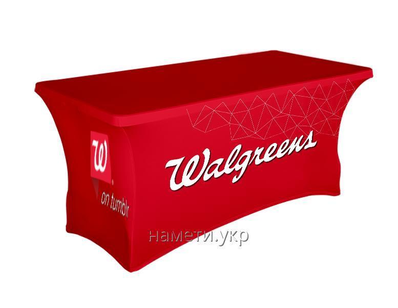 Скатерть рекламная с нанесением лого, корпоративная под заказ