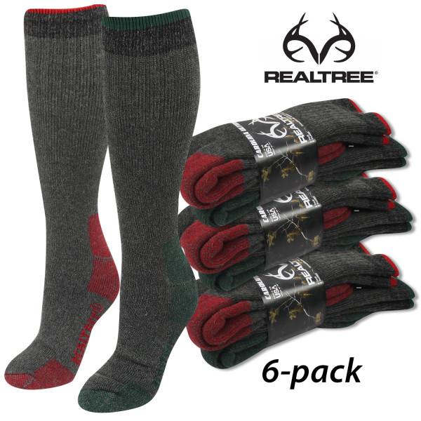Термоноски для охоты и рыбалки Realtree Merino Wool Blend Midweight Boot Socks