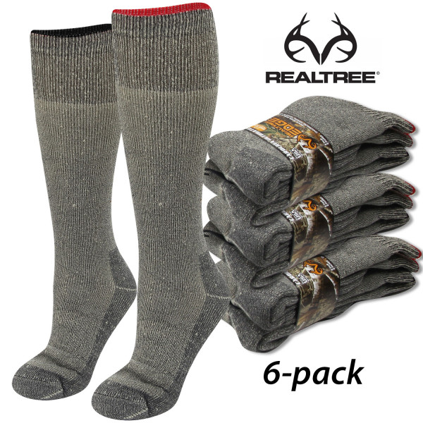 Термоноски для охоты и рыбалки Realtree Merino Wool Blend Marl Heavyweight Boot Socks