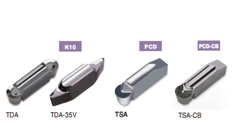 Пластины TDA/TSA для обработки алюминиевых колёсных дисков, TaeguTec