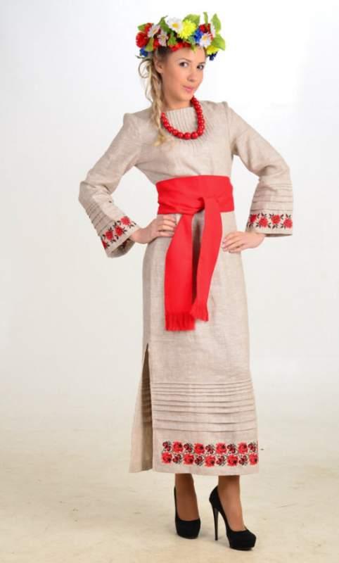 Вишиванка жіноча плаття «Ружа» (довгий рукав) купити в Луганськ 6c8b42519fd6d