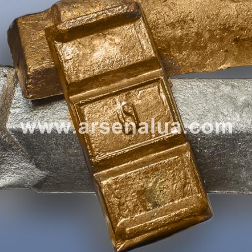 Buy Bronze bezolovyanny foundry Bra10zh3 Bra10zh3r Chushka Spit GOST 614-97