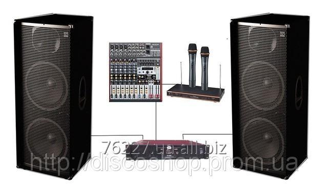 Buy The set of DJ 215KAR2 SOUND DIVISION for a karaoke of club, power is 2000 W