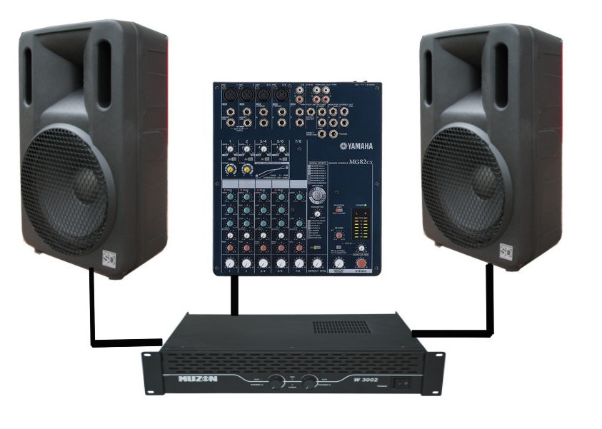 Buy Set of acoustics of Sound Division MC-300-12 for schools, cafe (600 W)