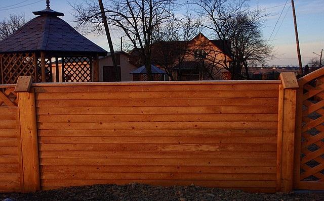 Забор деревянный № 2  из вагонки