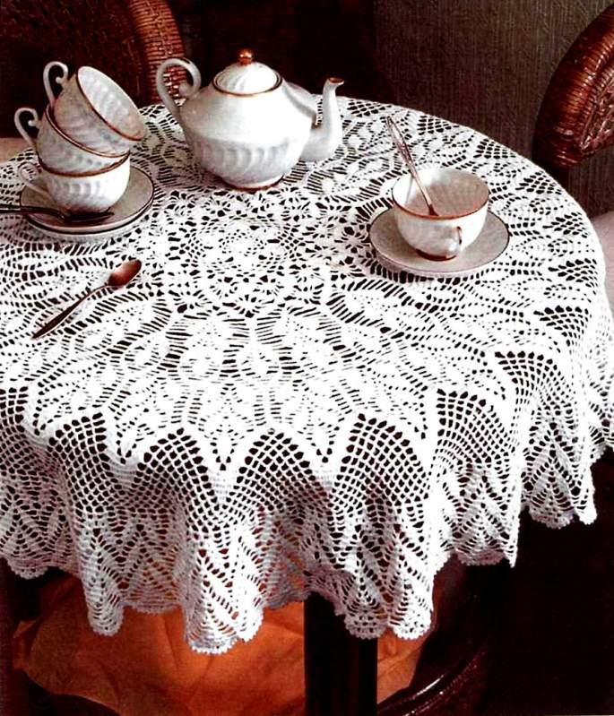 Фото вязание крючком скатерть