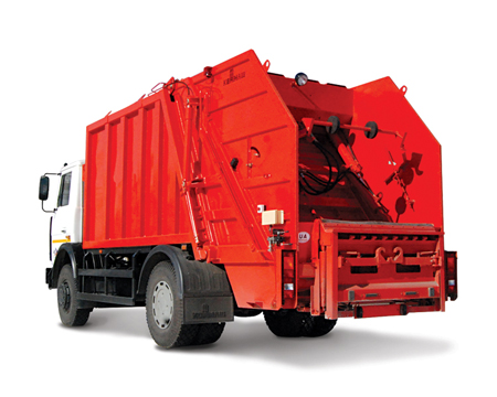 Buy Garbage truck with a back loading of SBM-409/1