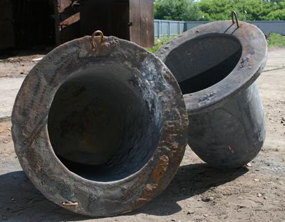 טיגלים מי ברזל יצוק