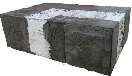 Купити Термоблоки за технологією Народний будинок. Блок кутовий внутрішній БУВ 60.20.40. Розміри 600*200*400мм. Купити термоблоки Черкаси виробник