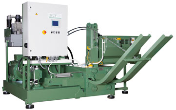 Buy The briquetting machine of RUF 600 makes briquettes of 150 x 60 mm in size in the section (the German DIN 51731 standard)