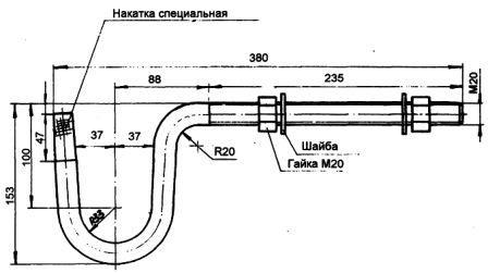 Крюк для крепления изолятора ТФ-20 А-1048 СБ