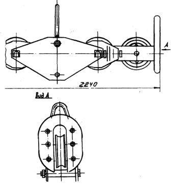 Подвесы шестироликовые П6Р-30-1, П6Р-45-1