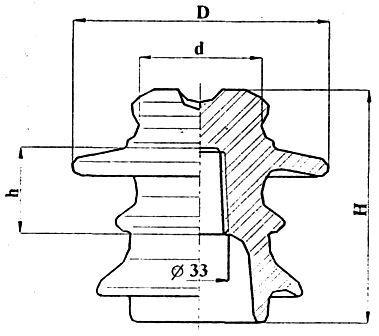 Изолятор штыревой высоковольтный фарфоровый ШФ10-II