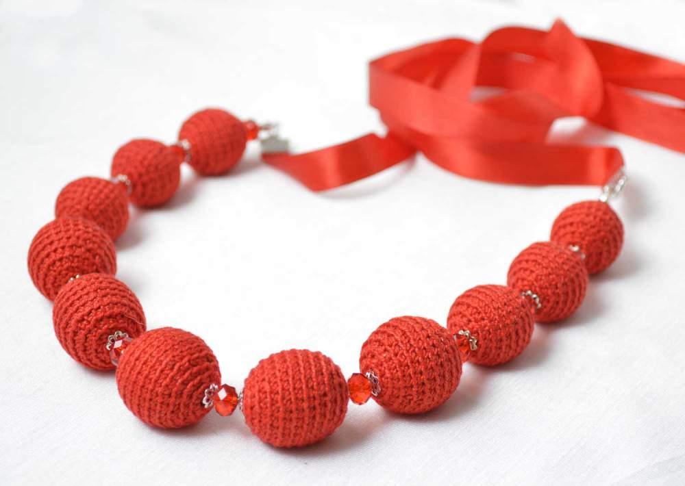 Buy Handiwork, beads red to buy, order, wholesale, Akhtyrka, Ukraine