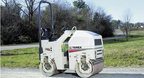 Двухвальцовый каток Terex TV900
