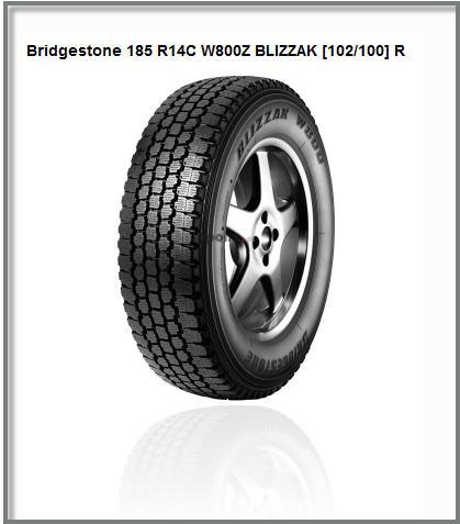 Шины Bridgestone 185  R14C  W800Z BLIZZAK  [102/100] R