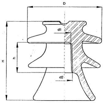 Изолятор штыревой фарфоровый ШФ20-Г
