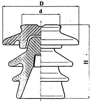 Изолятор штыревой фарфоровый 35 кВ  - VHД35-SI