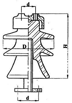 Изолятор опорно-штыревой высоковоль. фарф. 20 кВ  -  ШФС-20