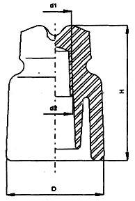 Изолятор низковольтный штыревой фарфоровый ТФ20.01