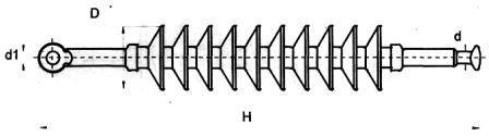Изолятор линейный стержневой полимерный ЛК70/35-3
