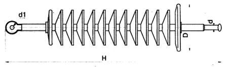Изолятор линейный стержневой полимерный ЛК70