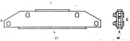 Коромысло двухцепное двухреберное 2КД2-30-1