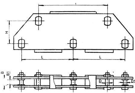 Коромысло трехцепное двухреберное-типа ЗКД2