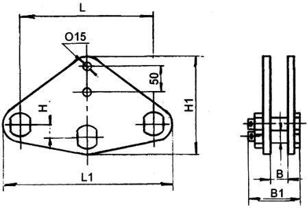 Коромысло двухцепное двухреберное 2КД-21-1, 2КД-30-4, 2КД-40-3