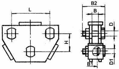 Коромысло двухцепное двухреберное 2КД-25-2,  2КД-12-2