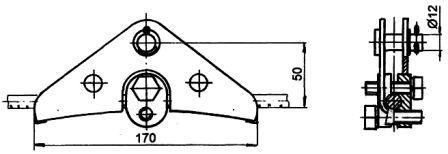 Зажим поддерживающий глухой ПГН-1-40/А-1053