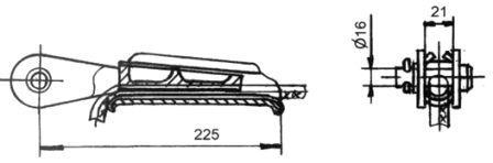 Зажим натяжной клиновый НК-1-1