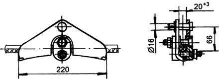 Зажим поддерживающий глухой ПГН-3-5